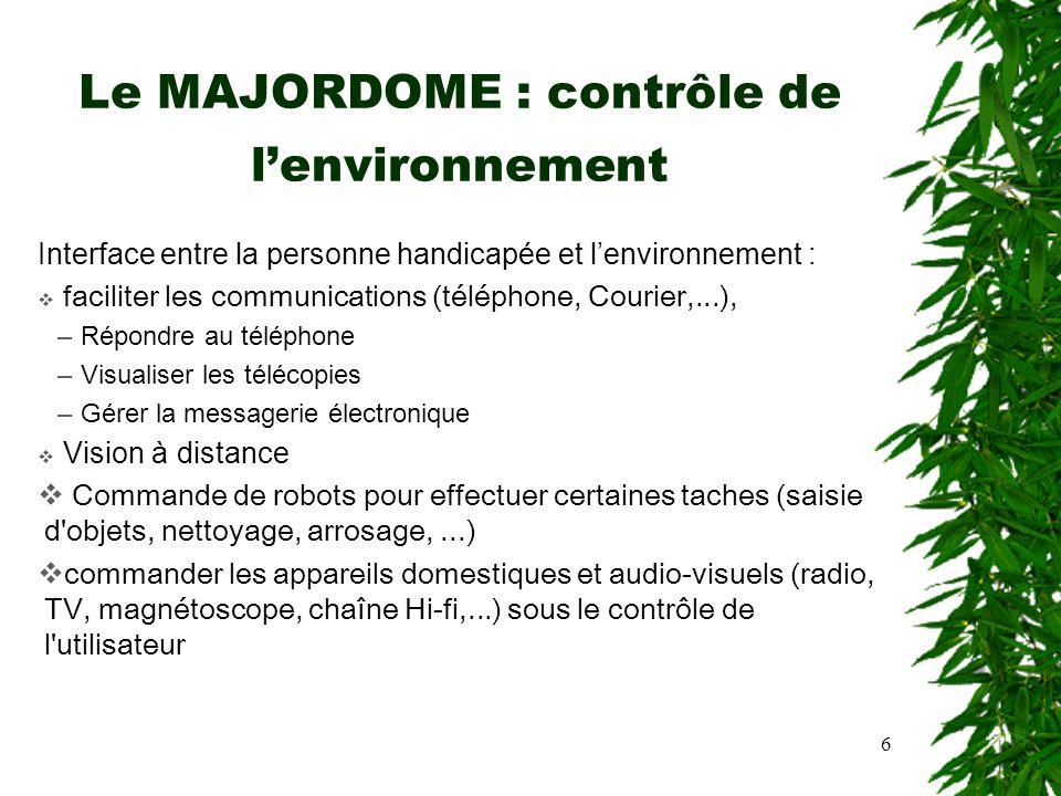 Le MAJORDOME : contrôle de l'environnement