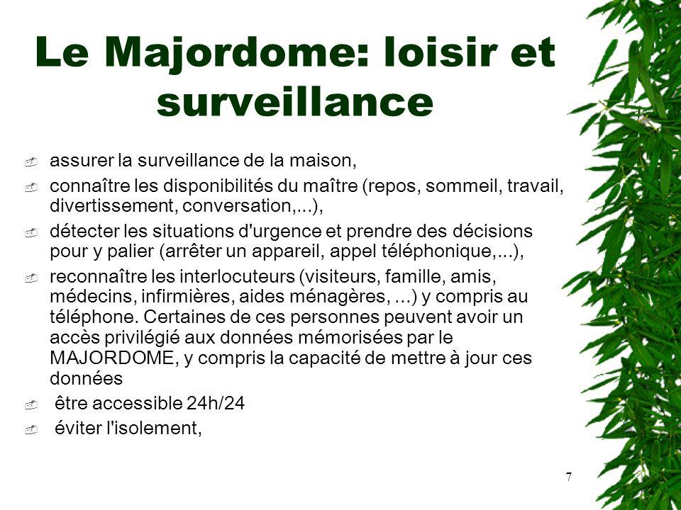 Le Majordome: loisir et surveillance