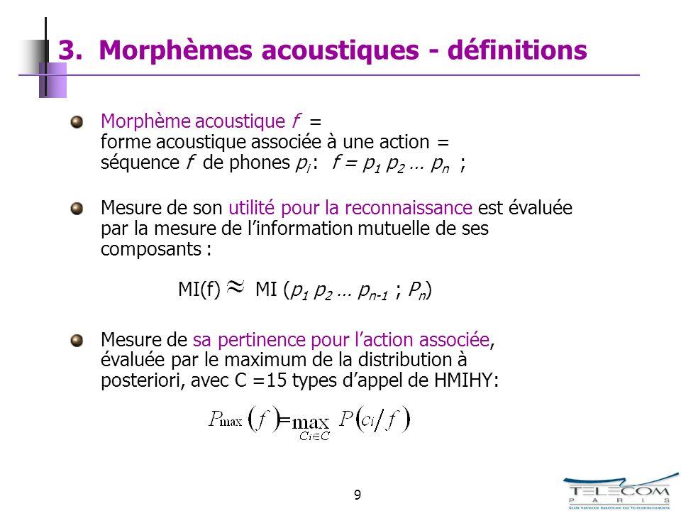 3. Morphèmes acoustiques - définitions
