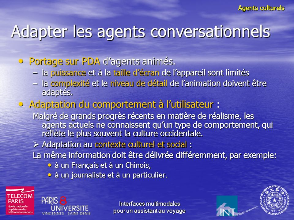 Adapter les agents conversationnels