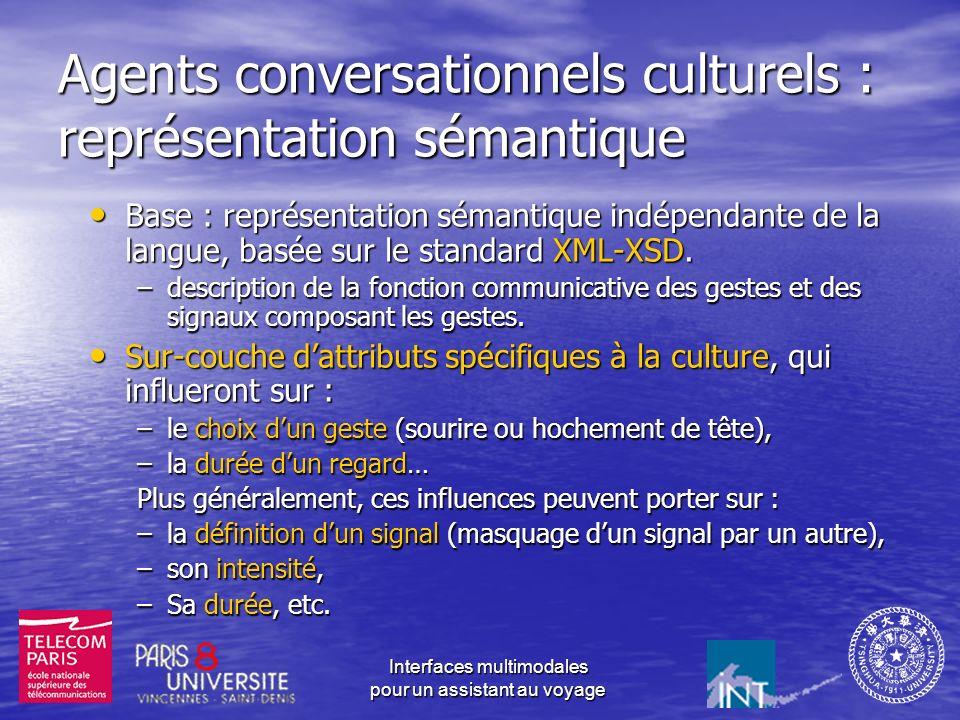 Agents conversationnels culturels : représentation sémantique