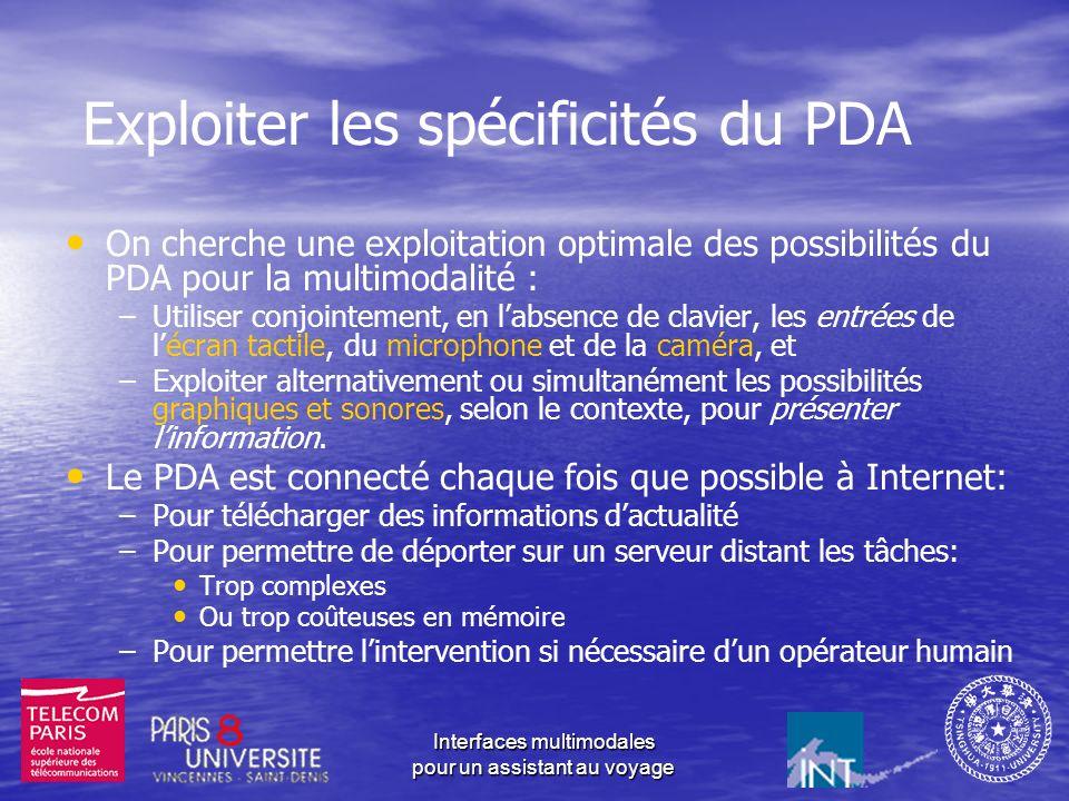 Exploiter les spécificités du PDA