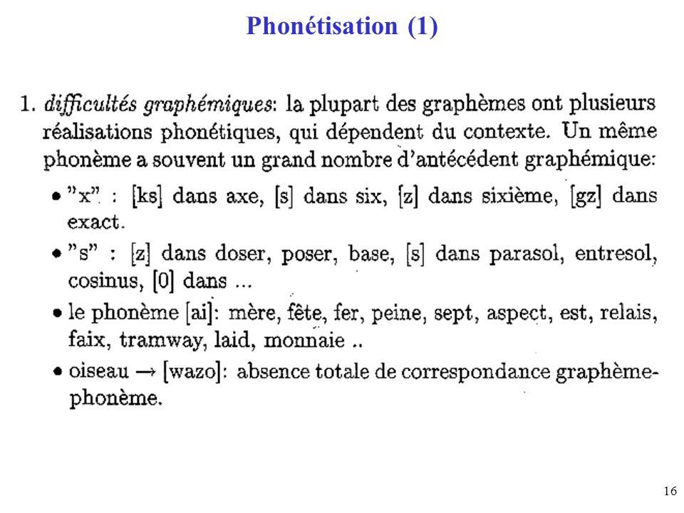 Phonétisation (1)