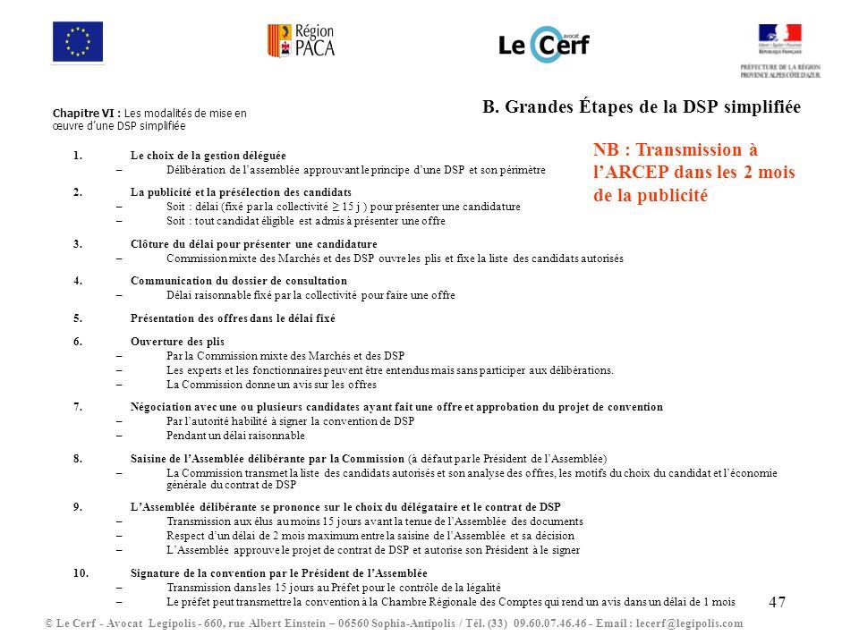 B. Grandes Étapes de la DSP simplifiée