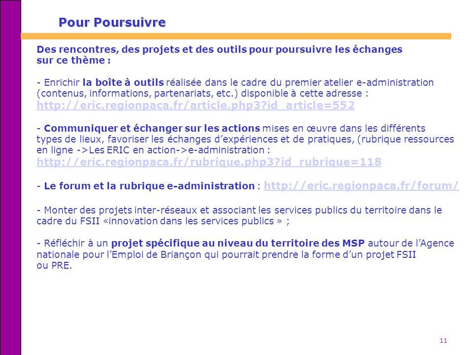Pour Poursuivre http://eric.regionpaca.fr/article.php3 id_article=552