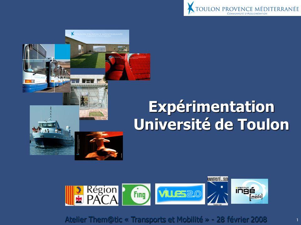 Expérimentation Université de Toulon