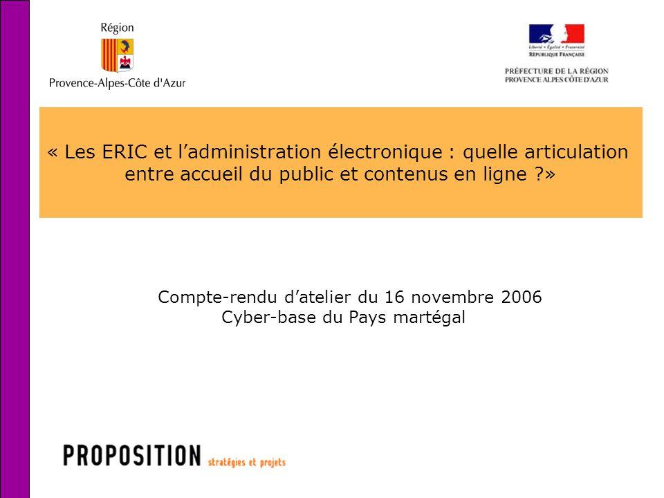 « Les ERIC et l'administration électronique : quelle articulation