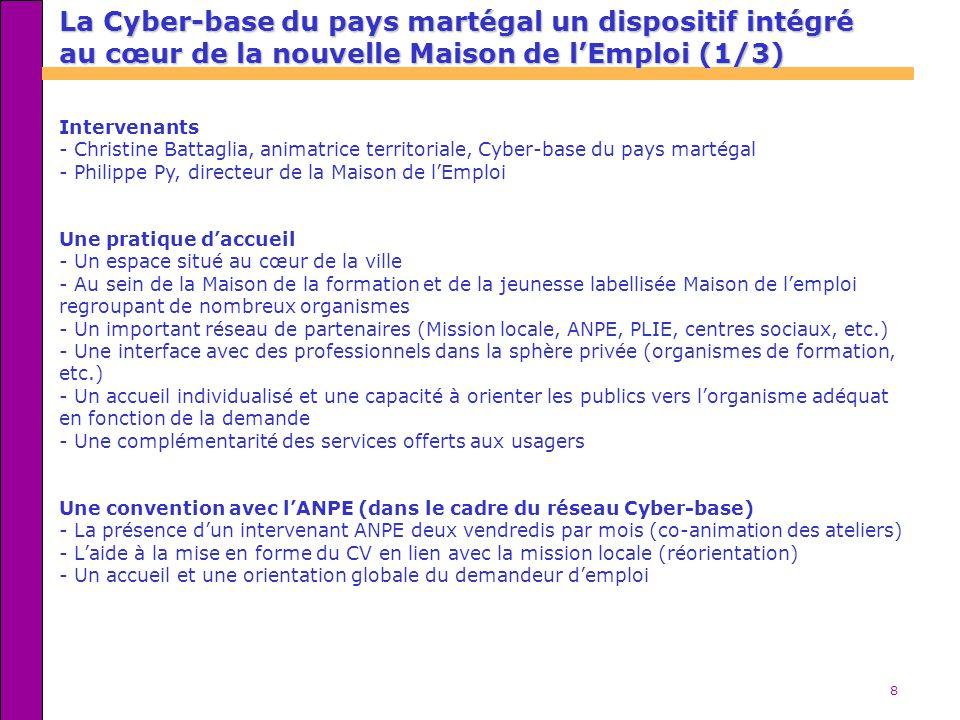 La Cyber-base du pays martégal un dispositif intégré au cœur de la nouvelle Maison de l'Emploi (1/3)