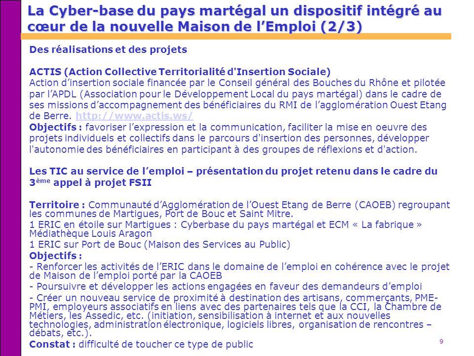 La Cyber-base du pays martégal un dispositif intégré au cœur de la nouvelle Maison de l'Emploi (2/3)