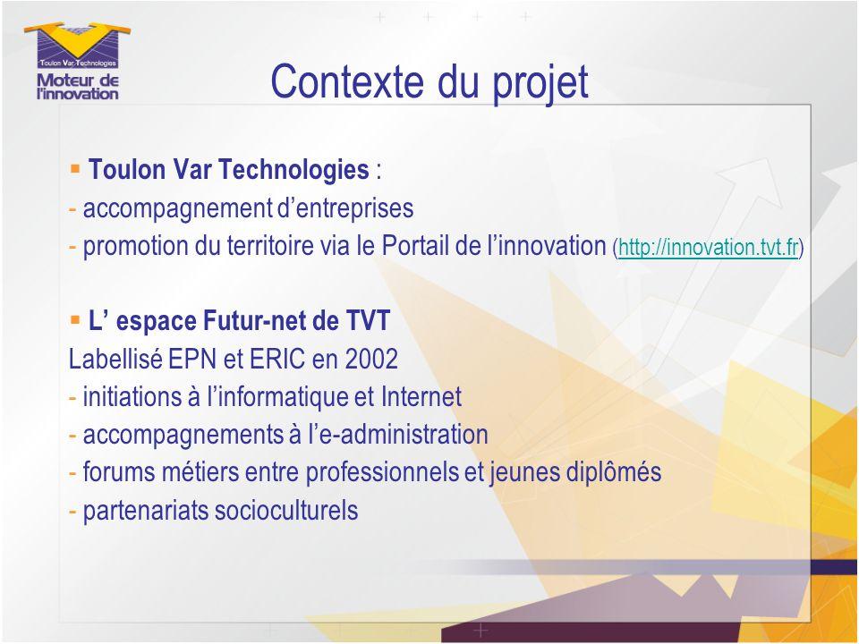 Contexte du projet Toulon Var Technologies :
