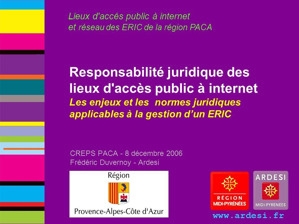 CREPS PACA - 8 décembre 2006 Frédéric Duvernoy - Ardesi
