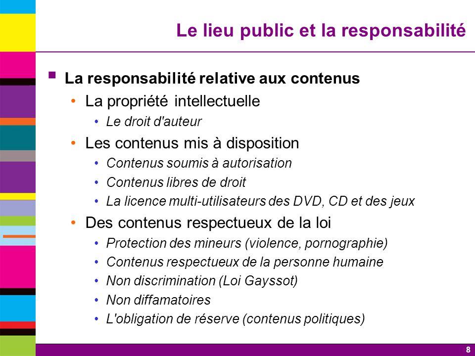 Le lieu public et la responsabilité