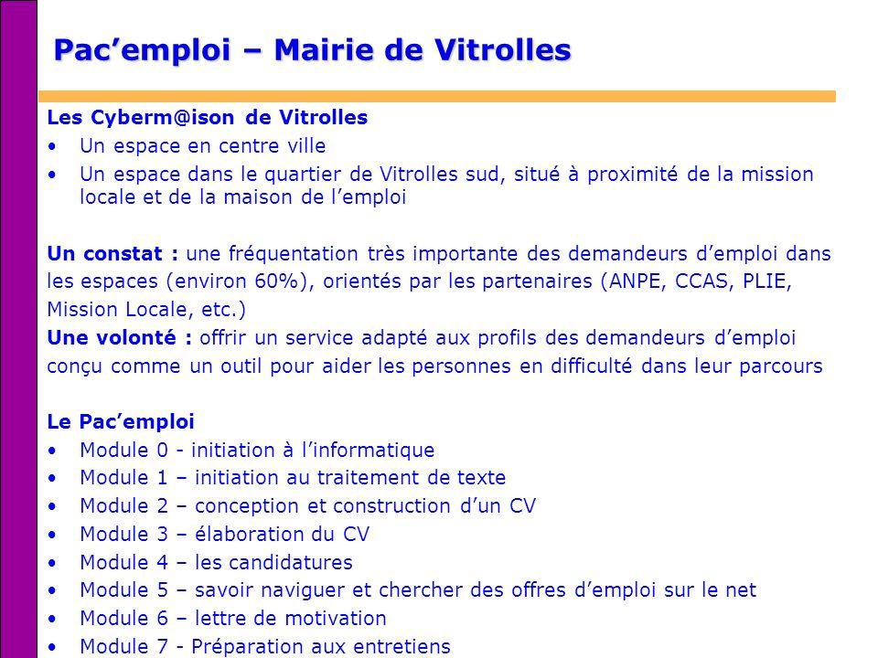 Pac'emploi – Mairie de Vitrolles