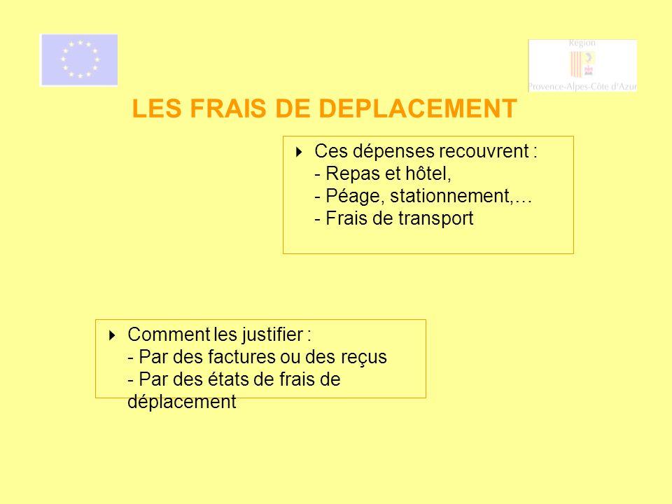 LES FRAIS DE DEPLACEMENT