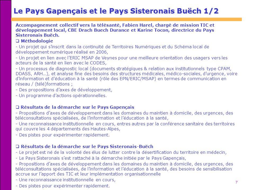 Le Pays Gapençais et le Pays Sisteronais Buëch 1/2