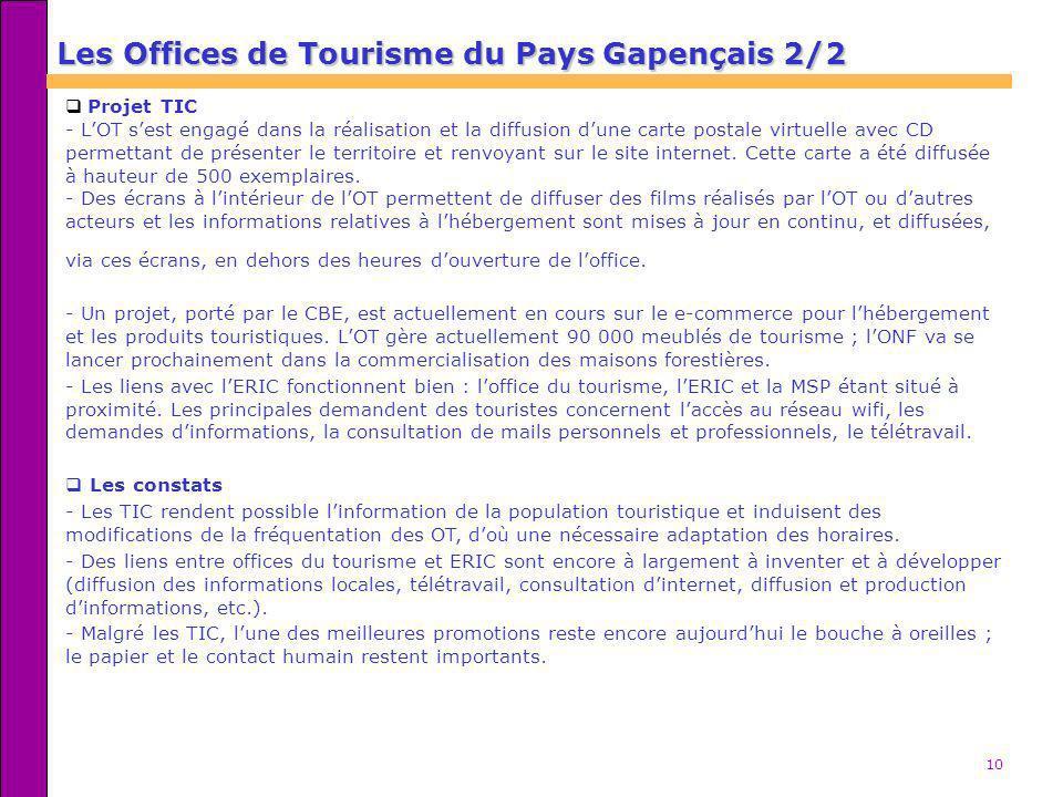 Les Offices de Tourisme du Pays Gapençais 2/2