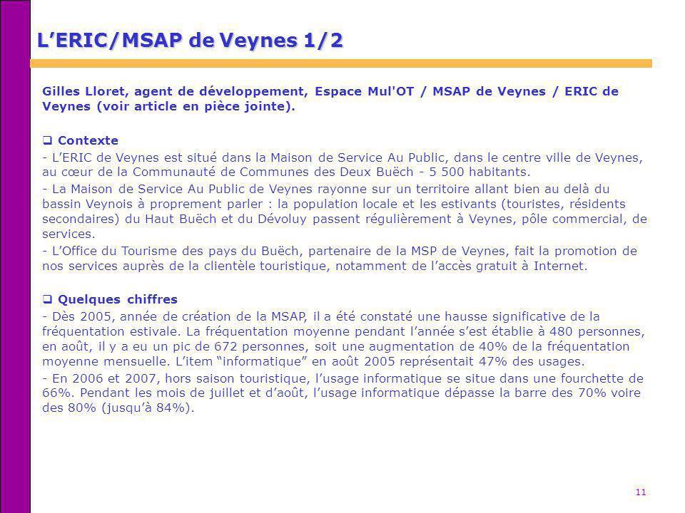 L'ERIC/MSAP de Veynes 1/2