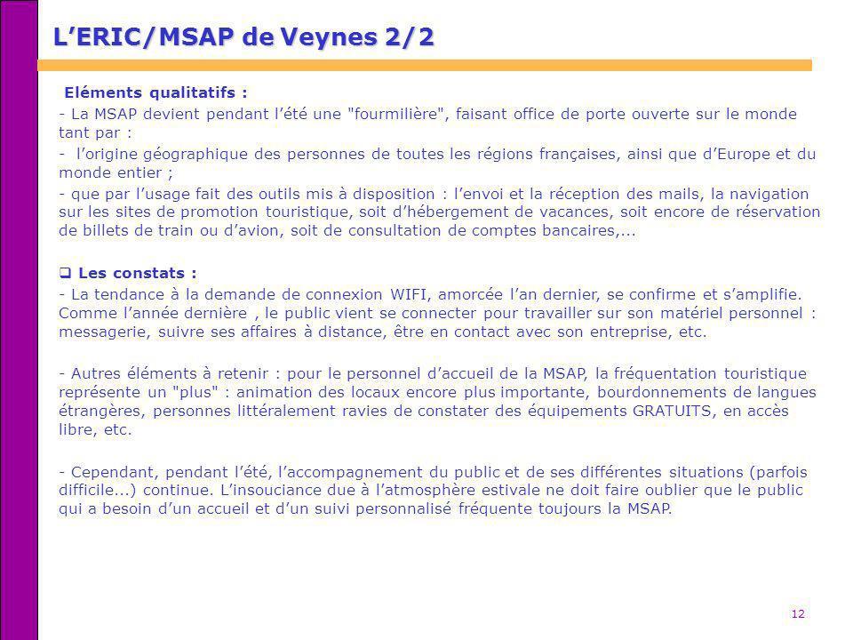 L'ERIC/MSAP de Veynes 2/2