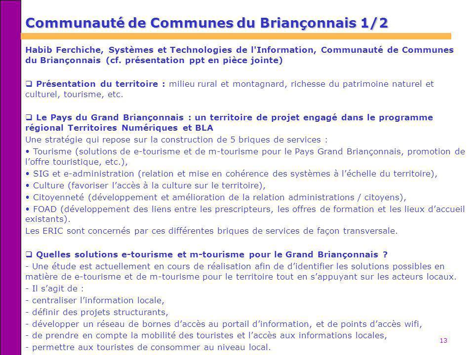 Communauté de Communes du Briançonnais 1/2