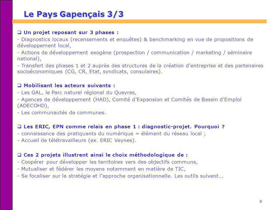 Le Pays Gapençais 3/3 Un projet reposant sur 3 phases :