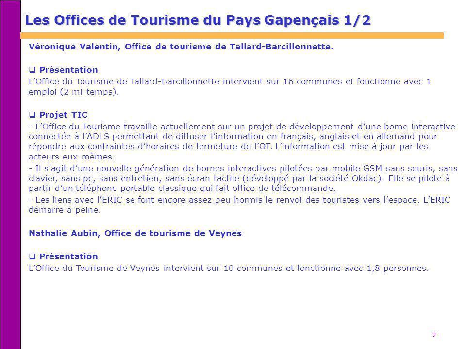 Les Offices de Tourisme du Pays Gapençais 1/2