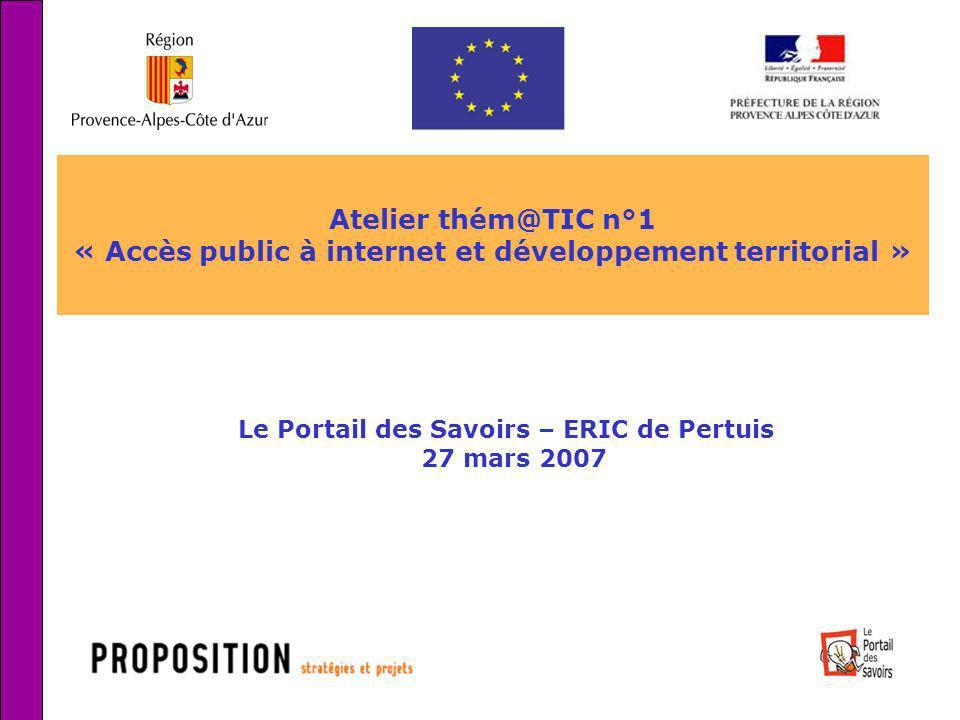 « Accès public à internet et développement territorial »