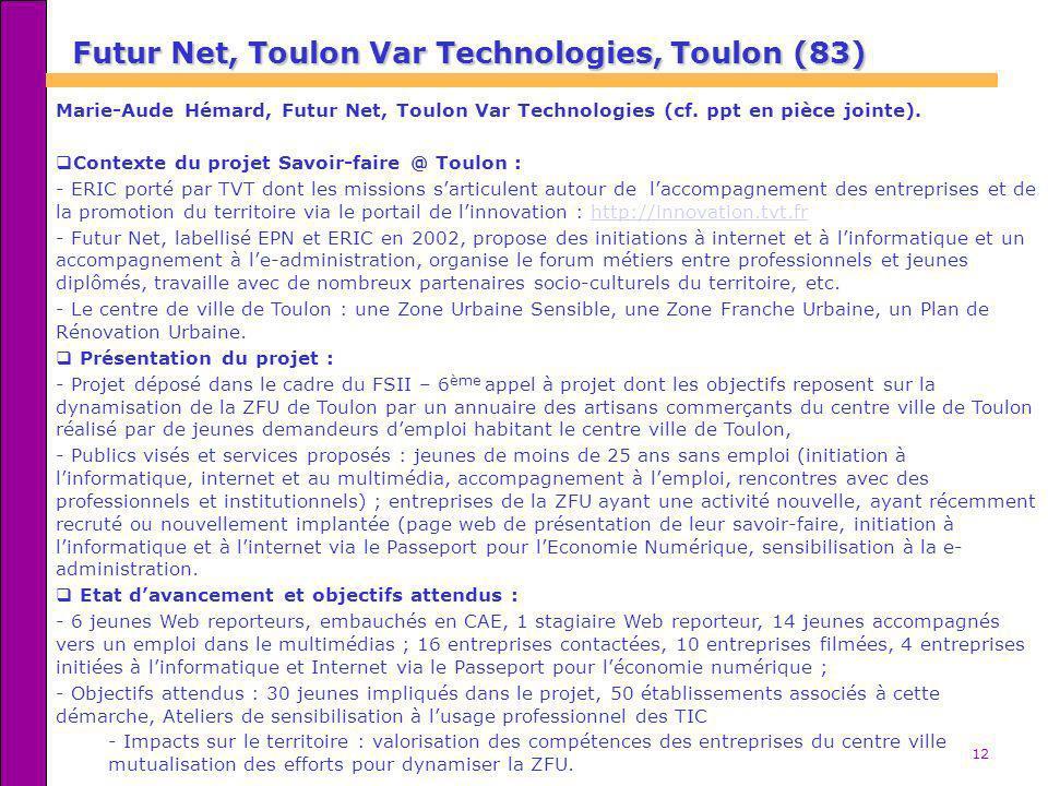 Futur Net, Toulon Var Technologies, Toulon (83)