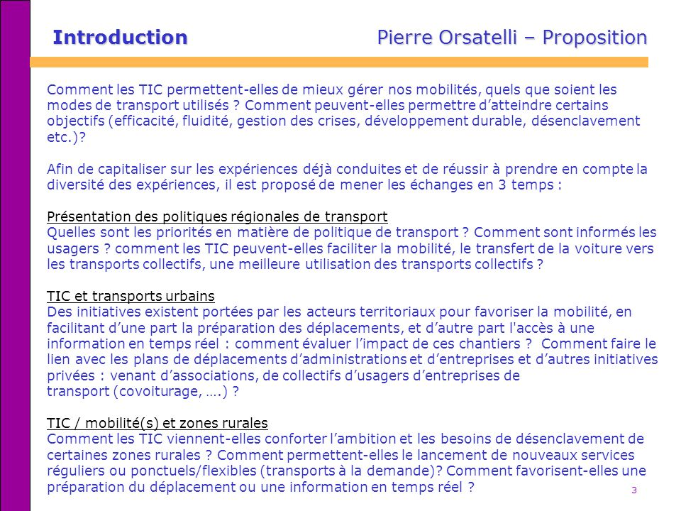 Introduction Pierre Orsatelli – Proposition