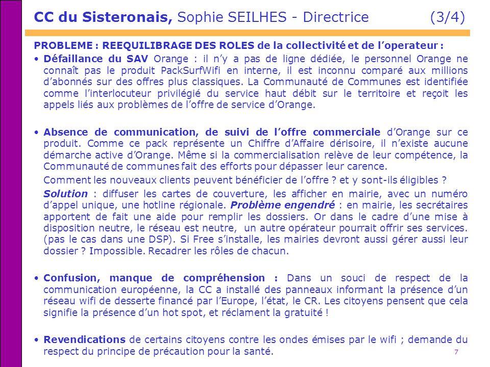 CC du Sisteronais, Sophie SEILHES - Directrice (3/4)