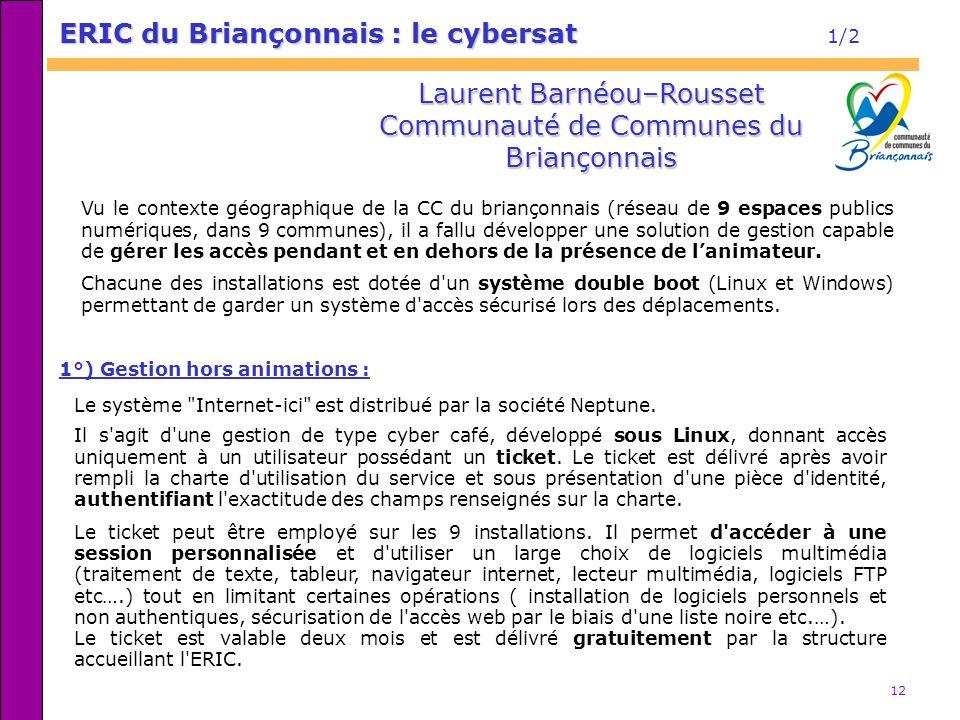 ERIC du Briançonnais : le cybersat 1/2
