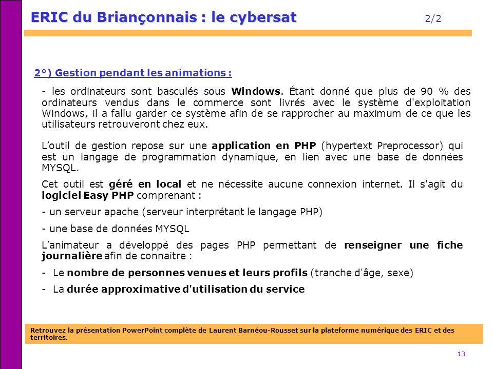 ERIC du Briançonnais : le cybersat 2/2