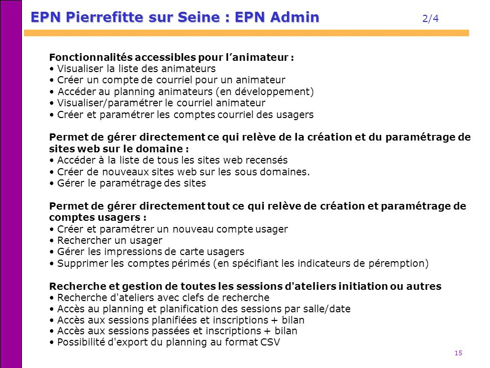 EPN Pierrefitte sur Seine : EPN Admin 2/4