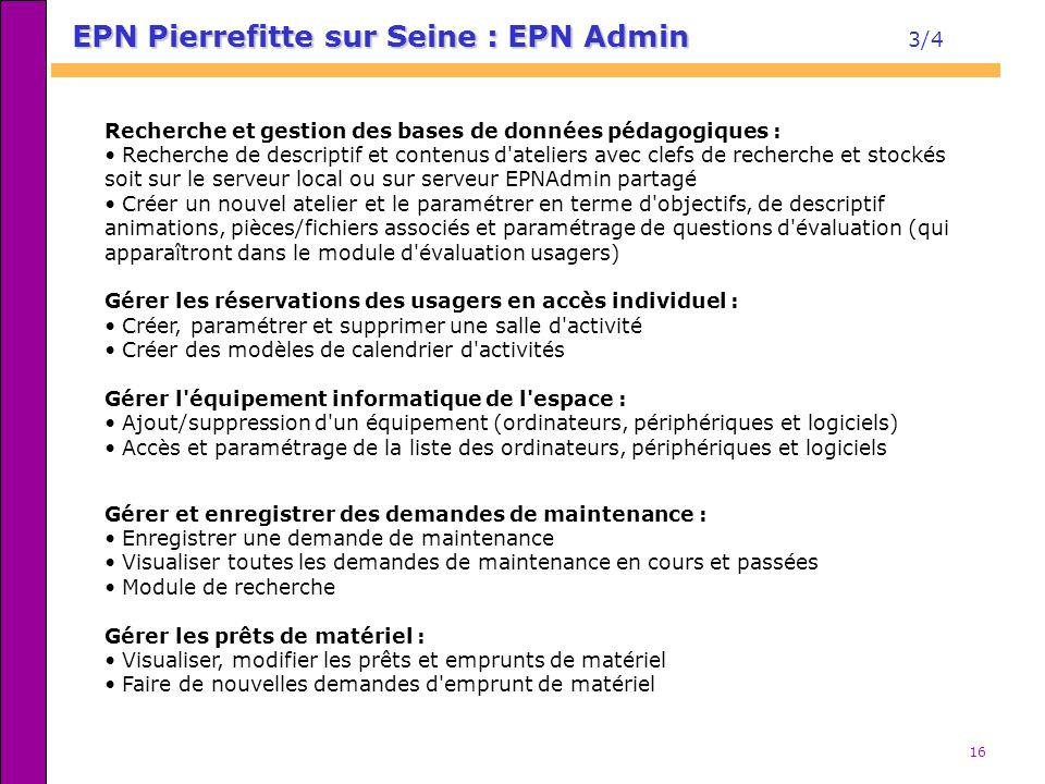 EPN Pierrefitte sur Seine : EPN Admin 3/4