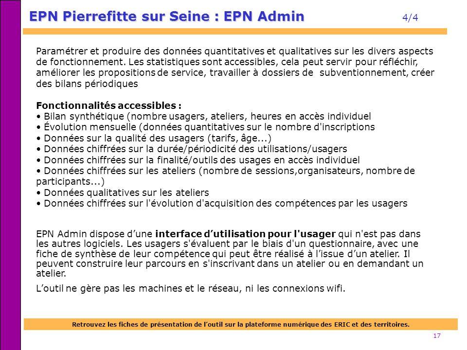 EPN Pierrefitte sur Seine : EPN Admin 4/4