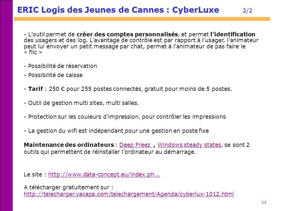 ERIC Logis des Jeunes de Cannes : CyberLuxe 2/2