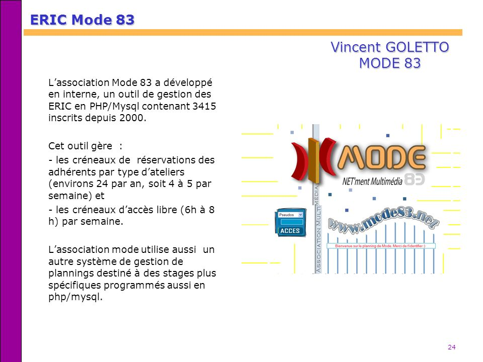 ERIC Mode 83 Vincent GOLETTO MODE 83