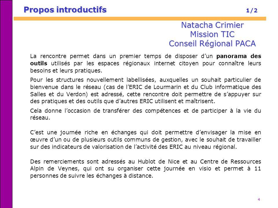 Natacha Crimier Mission TIC Conseil Régional PACA