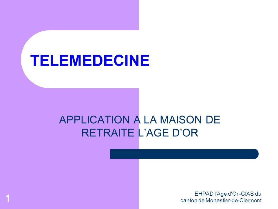 APPLICATION A LA MAISON DE RETRAITE L'AGE D'OR