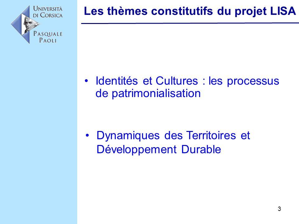 Les thèmes constitutifs du projet LISA