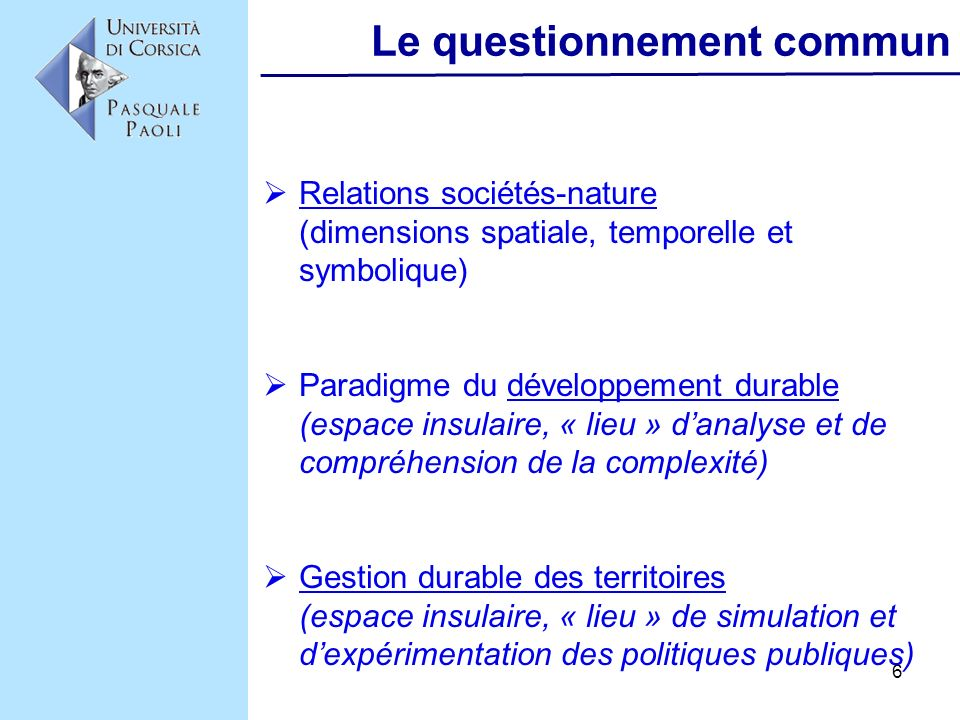 Le questionnement commun