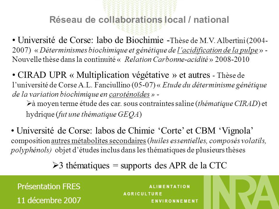 3 thématiques = supports des APR de la CTC