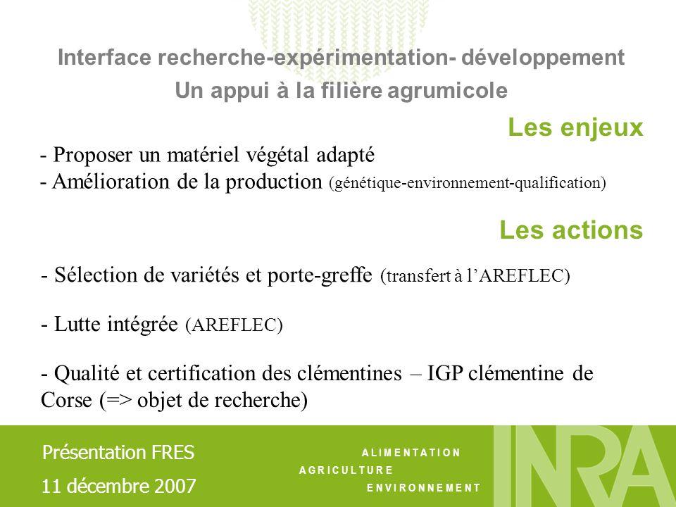 Interface recherche-expérimentation- développement