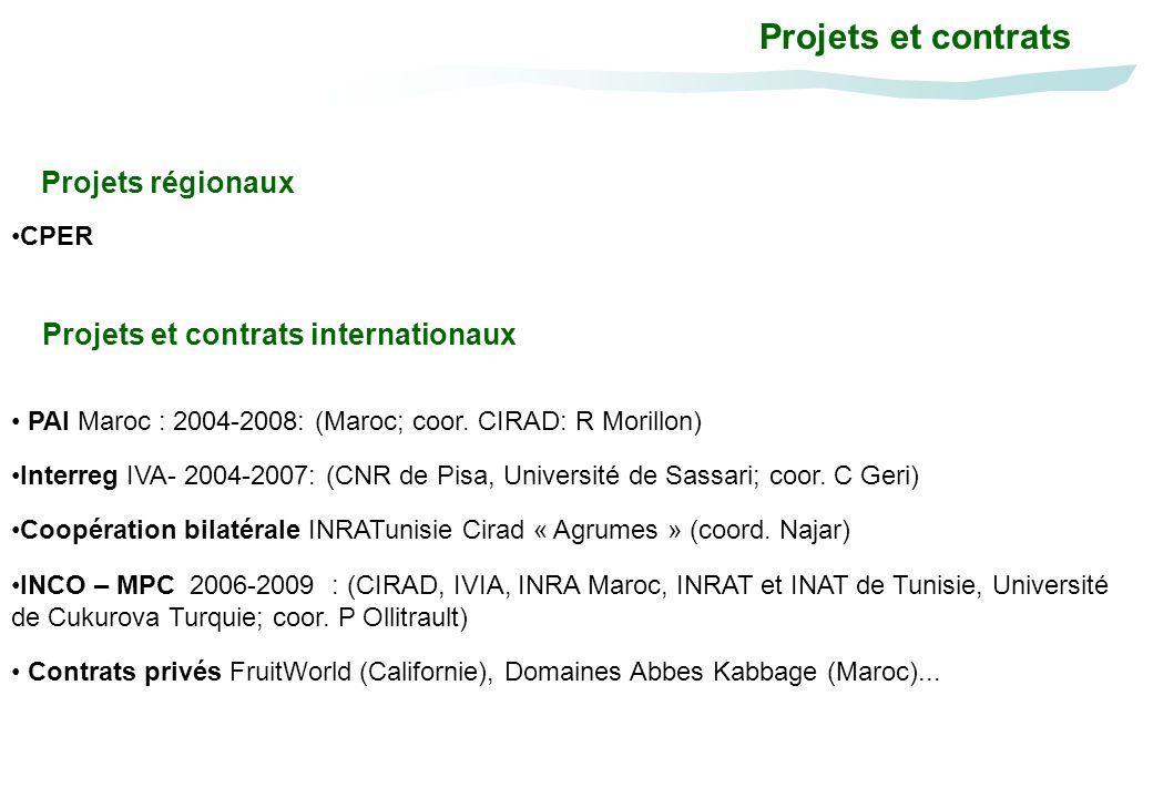 Projets et contrats Projets régionaux