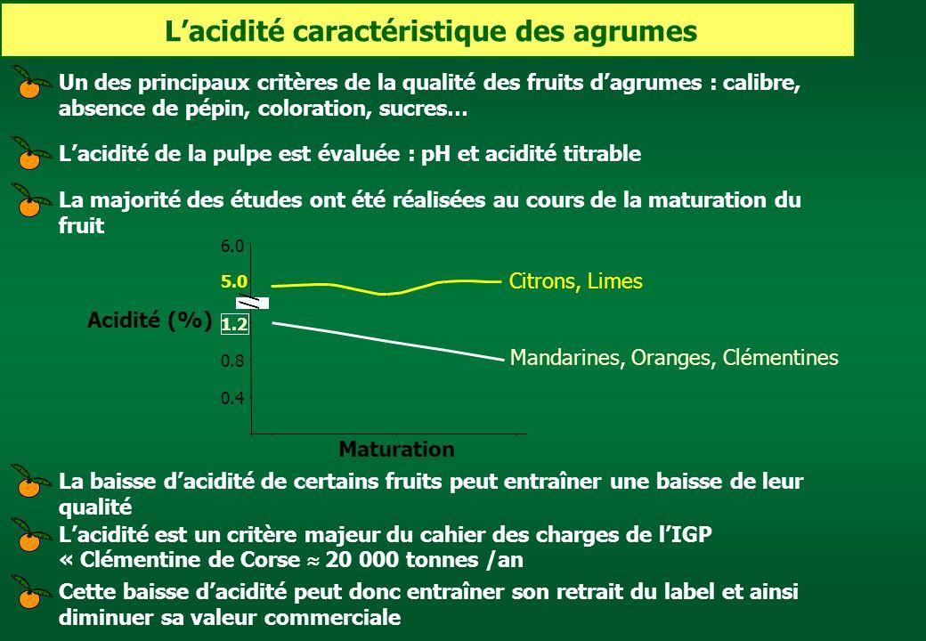 L'acidité caractéristique des agrumes