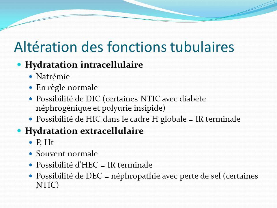 Altération des fonctions tubulaires