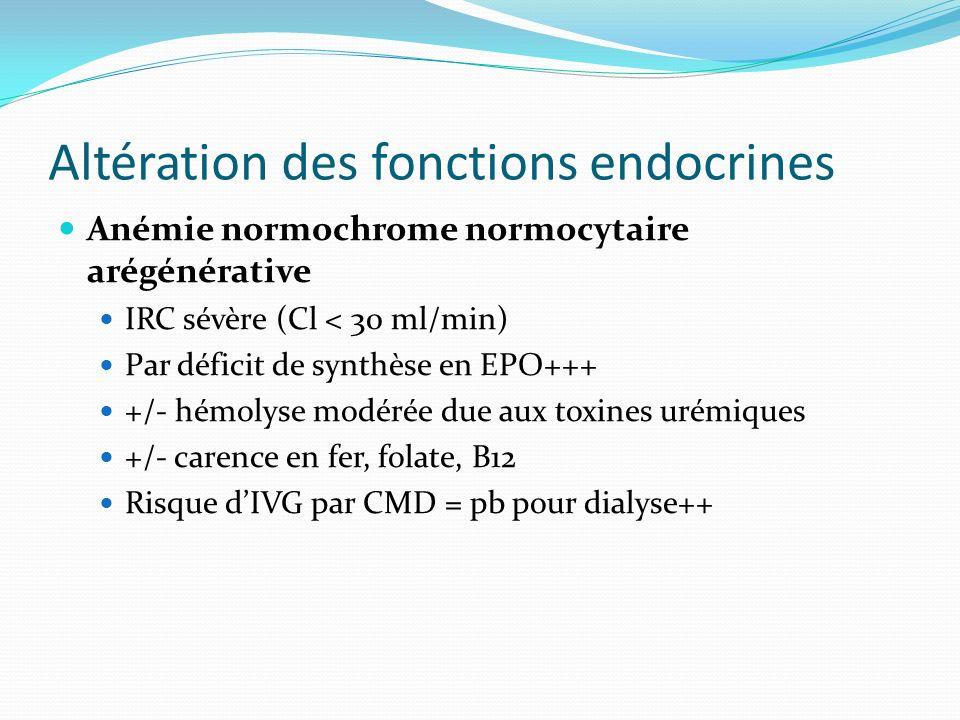 Altération des fonctions endocrines