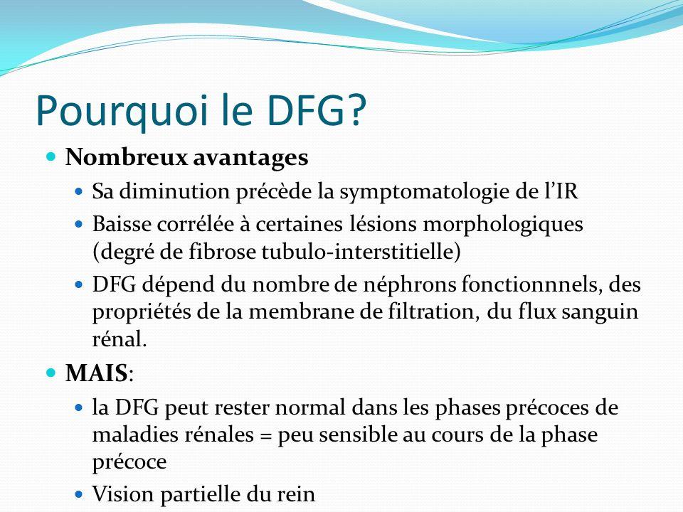 Pourquoi le DFG Nombreux avantages MAIS: