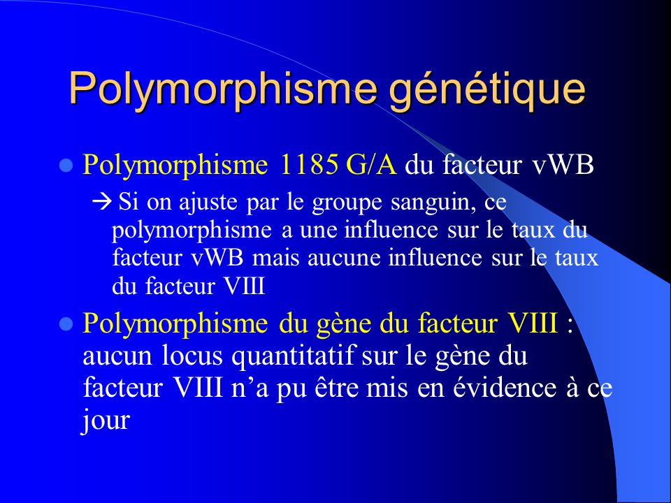 Polymorphisme génétique