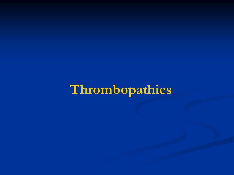 Thrombopathies