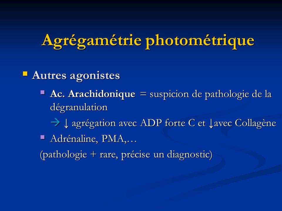 Agrégamétrie photométrique